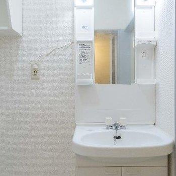 機能的な洗面室