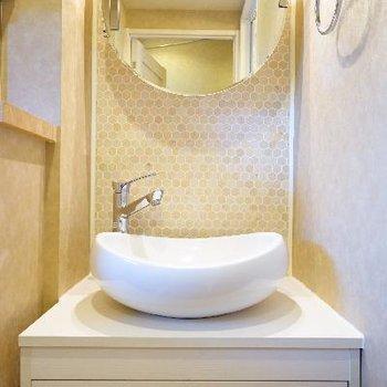 洗面台も可愛いデザインです!