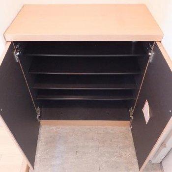 靴箱。材質やデザインは全体的にふつうです。*お部屋は別部屋です