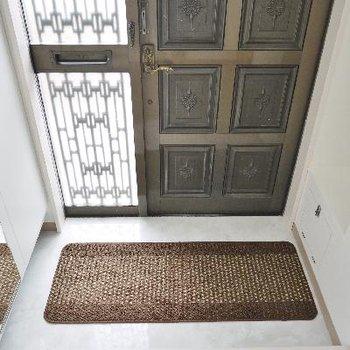 玄関は古さが残りますがシューズロッカーあってのこの広さ