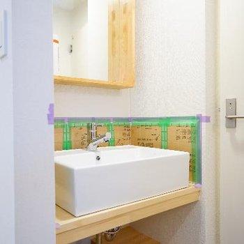 洗面台もオリジナル♪※完成前の写真・前回募集時の写真です。