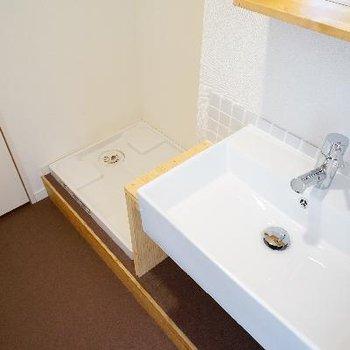 横に洗濯機置き場なので、使いやすい!!