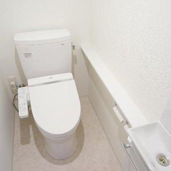 トイレも充実の設備!