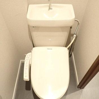 トイレはウォシュレット付き。※前回募集時のお写真です