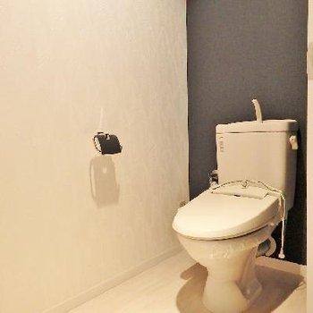 トイレもゆったりとしていて落ち着きます