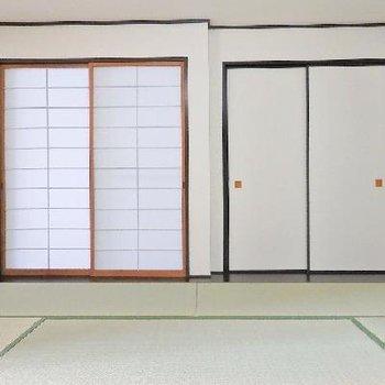 和室は障子付。しっかりしています。