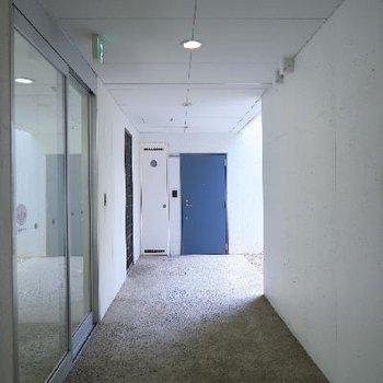 美術館の回廊みたい。