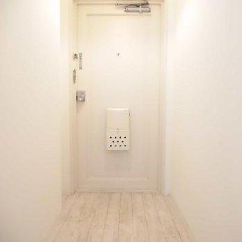 この線の向こうが玄関。玄関マット迷っちゃう!