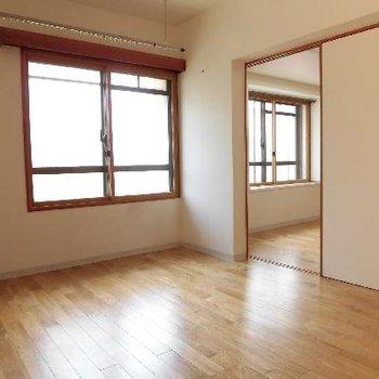 こっちはベッドルームですね※写真は別のお部屋です