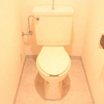 ウォシュレットは付いてませんが、トイレも清潔です。※写真は前回募集時のものです