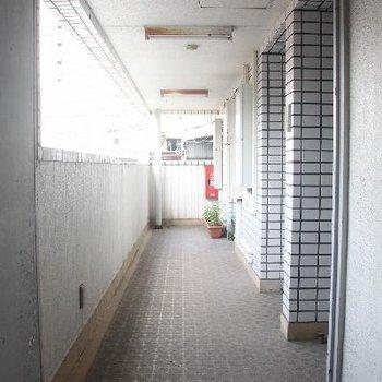 共用廊下もとても清潔。※写真は前回募集時のものです