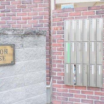 レンガの外壁もオシャレ