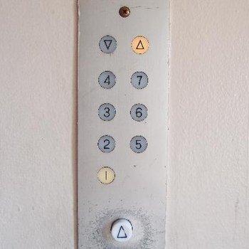 エレベーターのボタン。可愛い。。