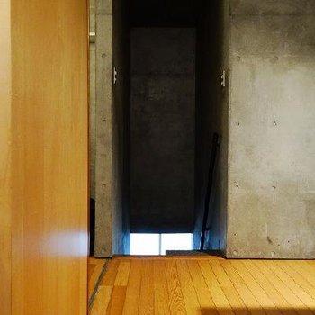 上の階のところからの写真。※写真は別部屋