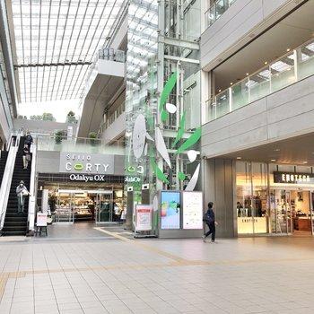 最寄りの成城学園前駅には駅直結の商業施設があります。