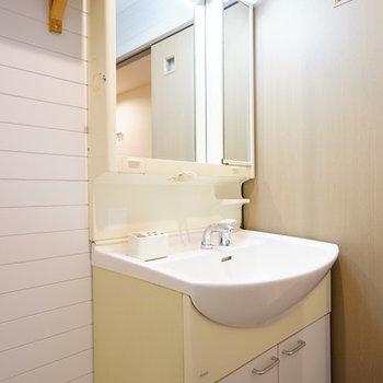 洗面台もゆったりサイズで使いやすい!