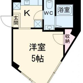 3角形の居室!