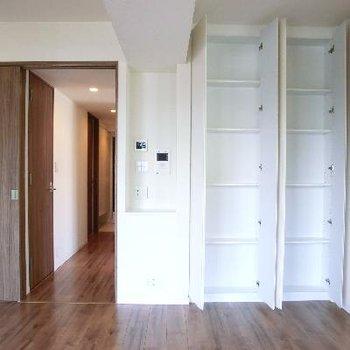入り口と、その横には浅めの収納。