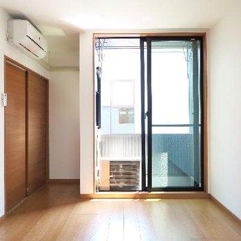 最上階の寝室、エアコン付きです!