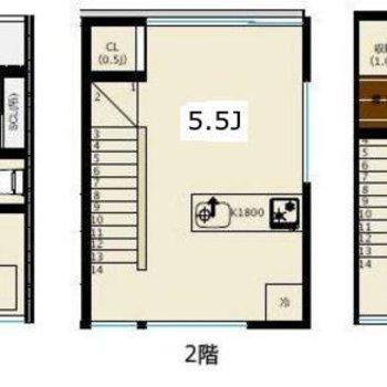 3階建て、3戸だけ。