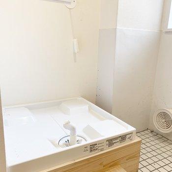 洗濯機置き場は玄関横