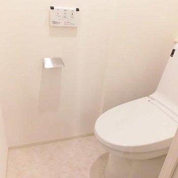 個室のトイレでゆったり感