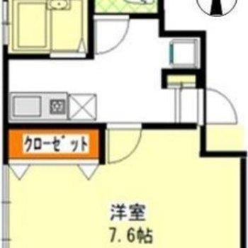 使いやすい1Kタイプのお部屋です。