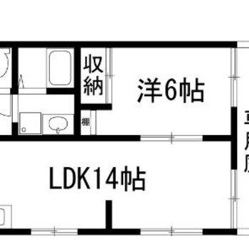 1LDKタイプのお部屋です!