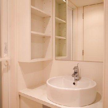 ホテルのように綺麗な洗面所※写真は別部屋