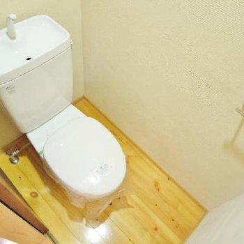 トイレは普通だけど床はお部屋と同じ素材♪