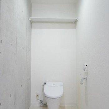 なんだこの開放的トイレ。右はコンクリート!