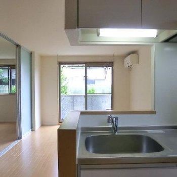 こんな対面式キッチンが夢でした!
