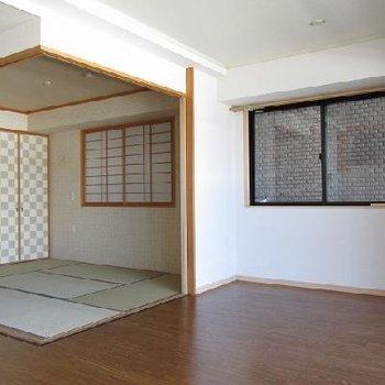 写真は和室タイプの別部屋です。今回は寝室は洋室のタイプが空きます!