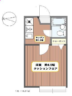青井15分アパート の間取り