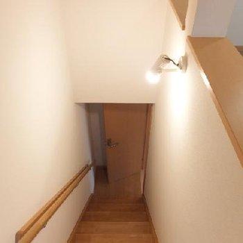 隠し階段はこんな感じ