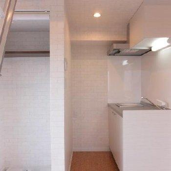洗濯機置場が室内にあります