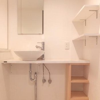 すっごくキレイな洗面スペース