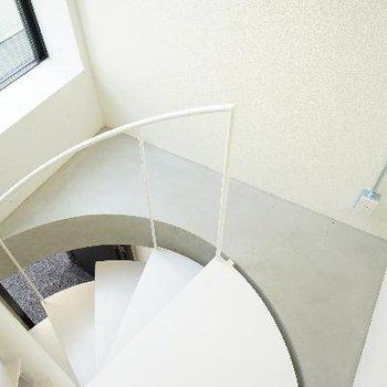 階段をあがって2階部分!
