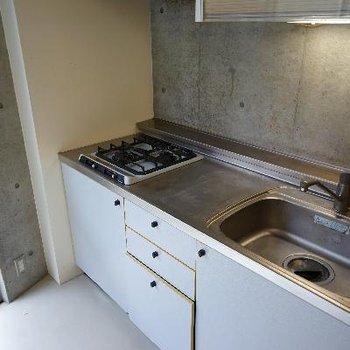 キッチンは2口ガスでゆったりサイズ!
