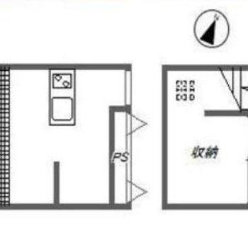 1階と地下のメゾネット