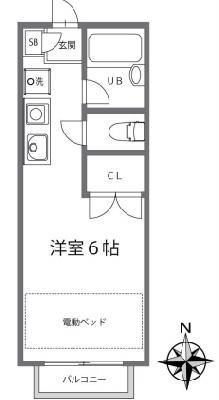 仙川13分アパート の間取り