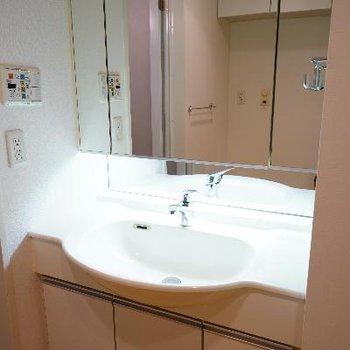 洗面台もゆったりサイズで使い勝手○