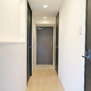 廊下にはディスプレイスペースがありますね。