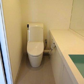 トイレ、洗面台。※写真は別室