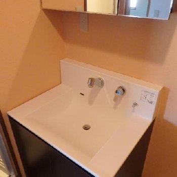 洗面台も新調されていて気持ち良い!※写真は別部屋