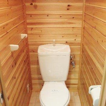自然を感じるトイレ!