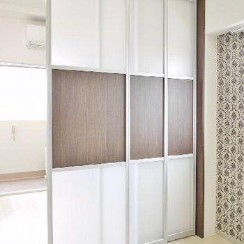 お部屋とDKはこの3枚の扉で仕切ります!