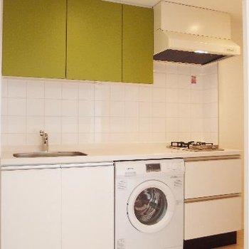 グリーンが可愛いキッチン