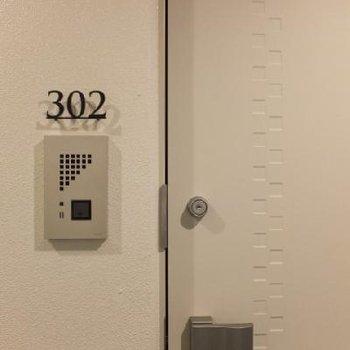 部屋番号が可愛らしい。※写真は別部屋です