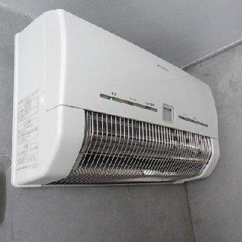 浴室乾燥機。よく乾きそうだなぁ。べランダなしでも大丈夫!※写真は別部屋です